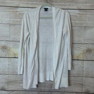 Ann Taylor white long cardigan in size medium